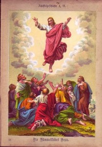 Ascension in the presence of His eleven disciples - Acts 1, 9-11
