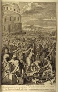 Gerad Hoet, 1728, Lightning strikes The Tower of Babel