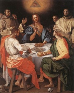 Jacopo Pontormo, 1525, Supper at Emmaus
