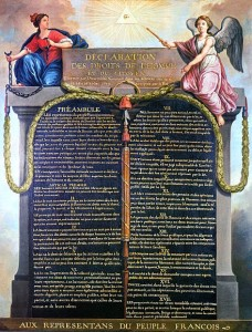 Jean-Jacques-Francois Le Barbier, 1789, declaration of the rights of Man, France
